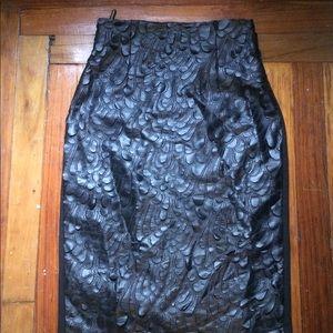 Sexy high waist pleather skirt